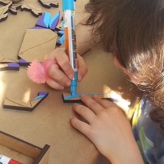 Workshop de pintura com os kits Tek-Mitos