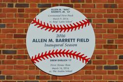 Dugouts at Barrett Field