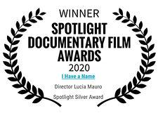 IHaveaNameSpotlightFilmAwardsSilverAward