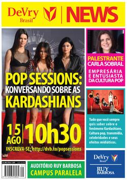 Cartaz Palestra sobre as Kardashians