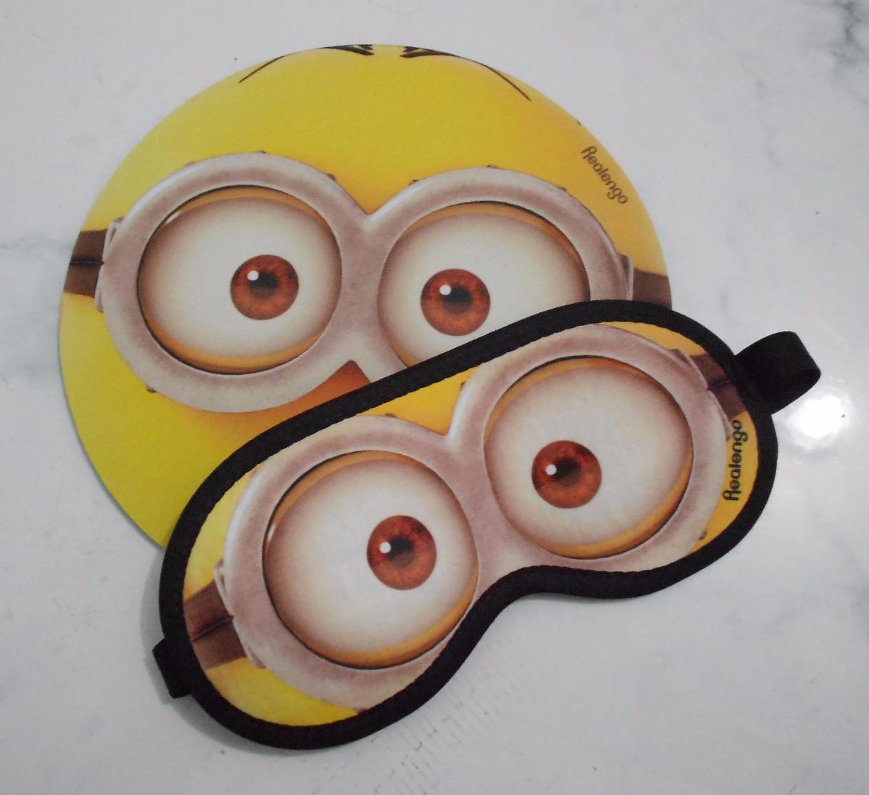 Máscara + porta panela Minions