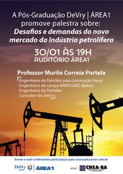 Cartaz palestra petróleo