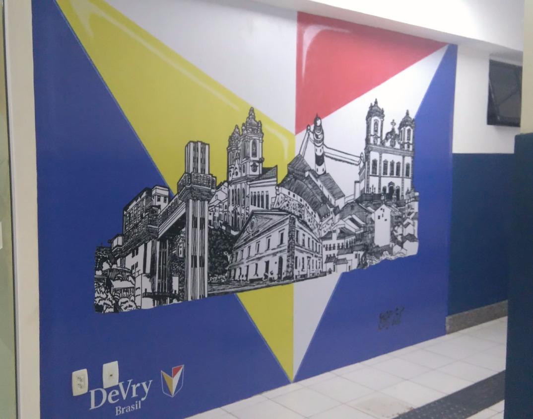 Adesivo parede DeVry Brasil