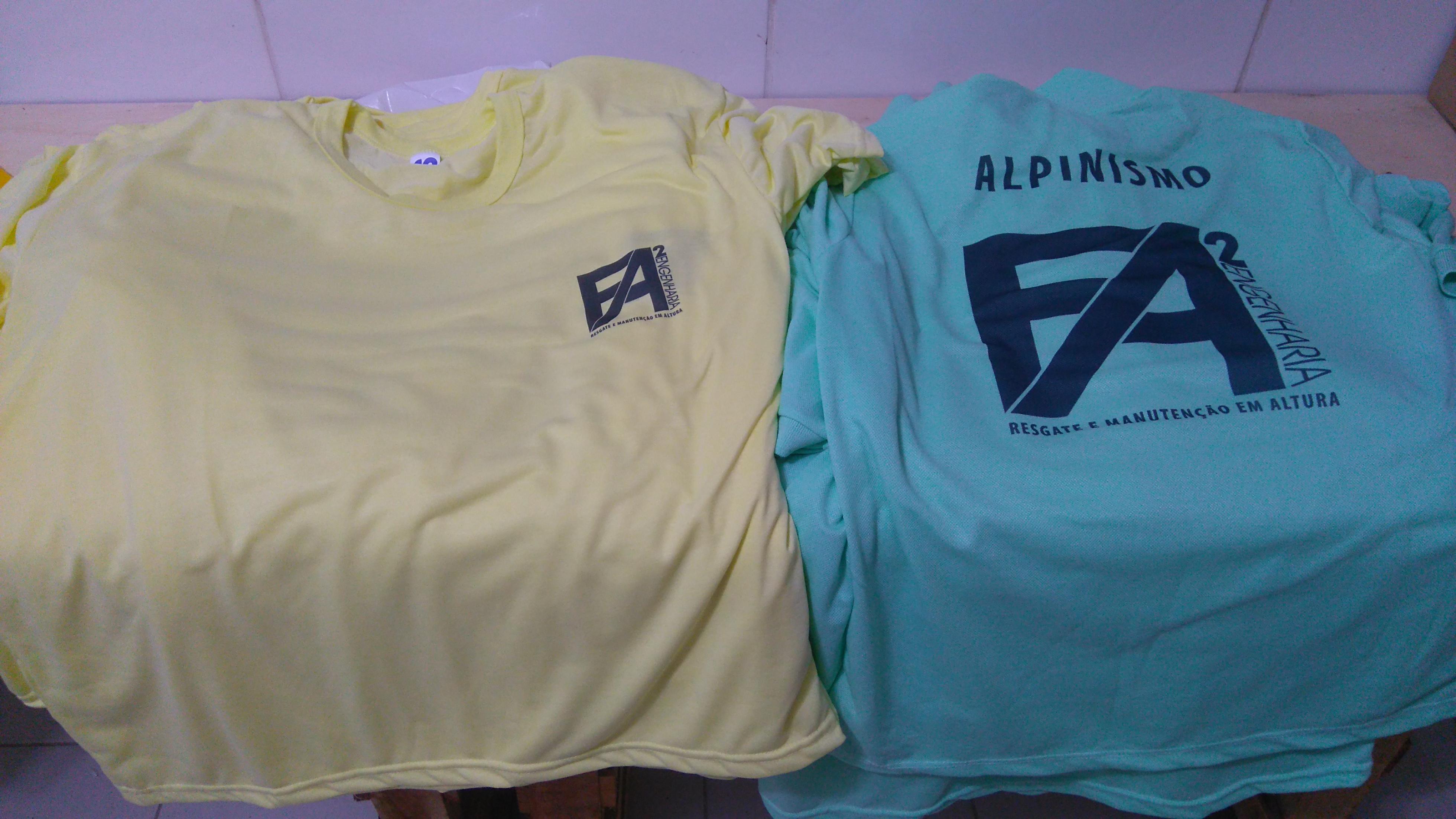 Camisas em sublimação