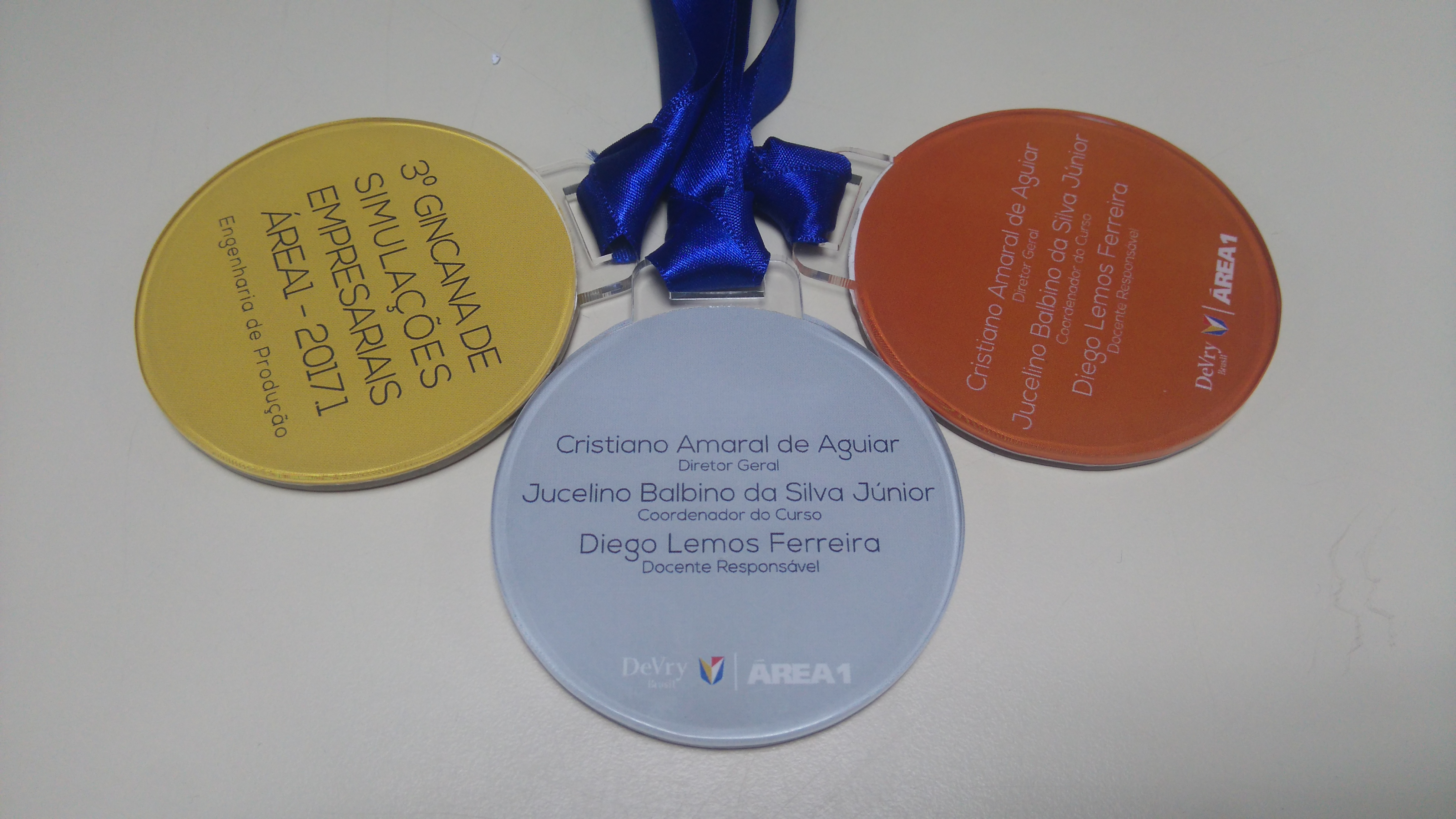 Medalhas em Acrílico