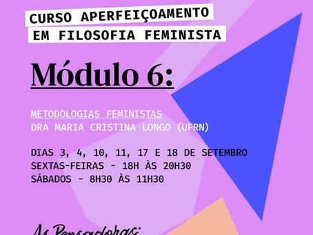 Metodologias Feministas - Curso de Aperfeiçoamento em Filosofia Feminista.