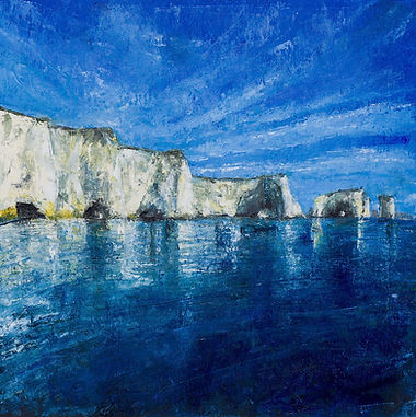 Sophie Jenkins Art - Old Harry Blue