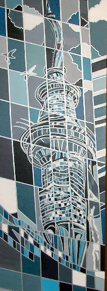 Reflections of Auckland Tower