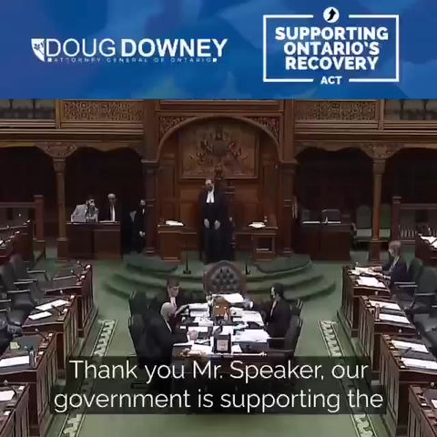 DOUG DOWNEY ARGUING FOR BILL 218 IN PARLIAMENT