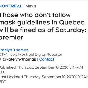 Masking in Quebec
