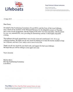 lifeboat letter
