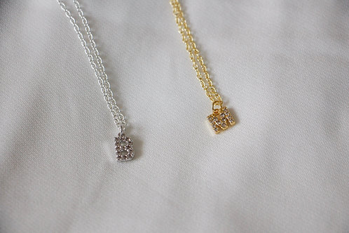 """""""You'll Never Know"""" Crystal Initial Necklace"""