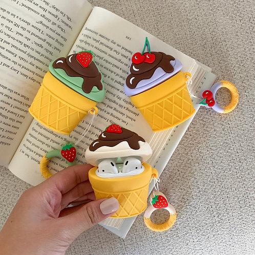 Ice Cream Sundae AirPods Case