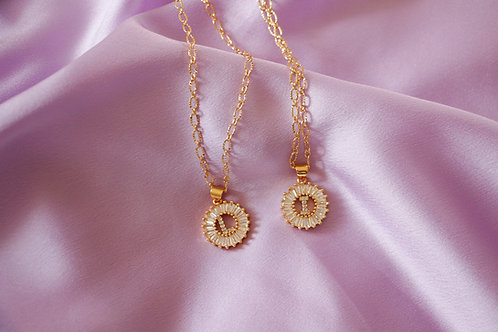 """""""Cherished"""" Crystal Initial Necklace"""