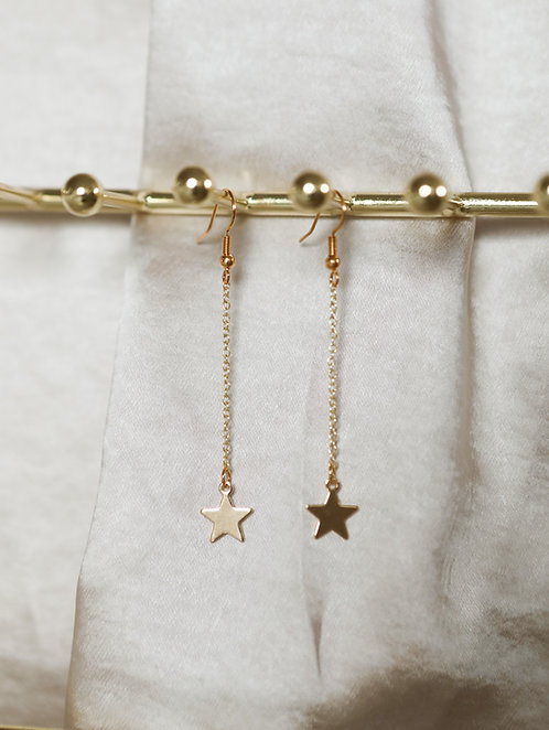 """Starlight"" Dangle Chain Earrings"