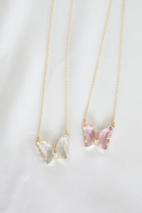 """""""Dreaming"""" Crystal Butterfly Necklace"""