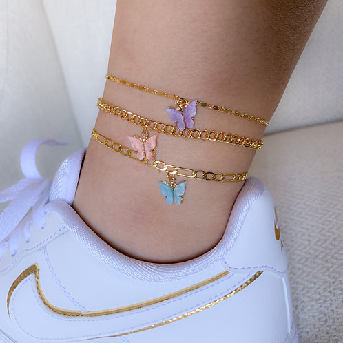 """Mariposa"" Colorful Butterfly Anklet"