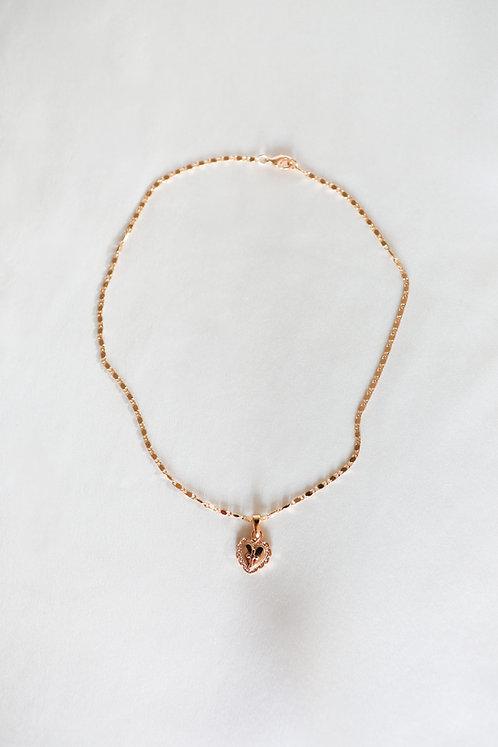 """""""Renaissance"""" Vintage Heart Charm Necklace"""