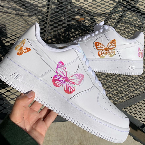 Custom Colored Iridescent/Reflective Butterfly Nike AF1