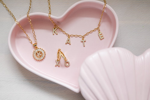 """""""Let's Get Personal"""" Custom Spaced Name Crystal Necklace"""