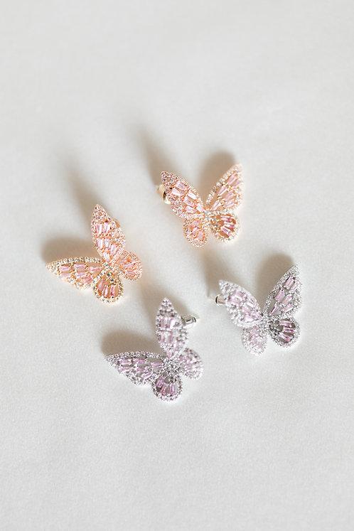 """""""Fairytale"""" Butterfly Crystal Studs"""