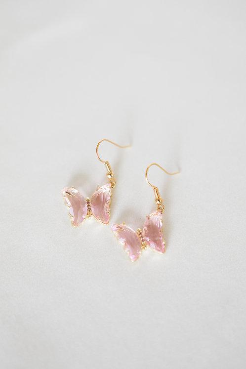 """""""Dreaming"""" Crystal Butterfly Earrings"""