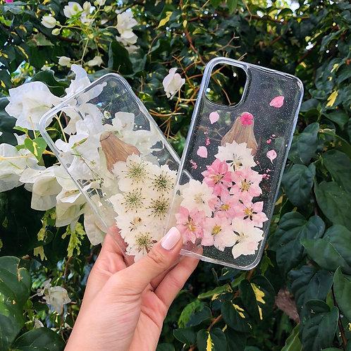 Flower Girl Clear Glitter iPhone Case