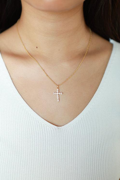 """Grace"" Crystal Cross Necklace"