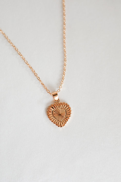 """Amore"" Gold Filled Heart Necklace"