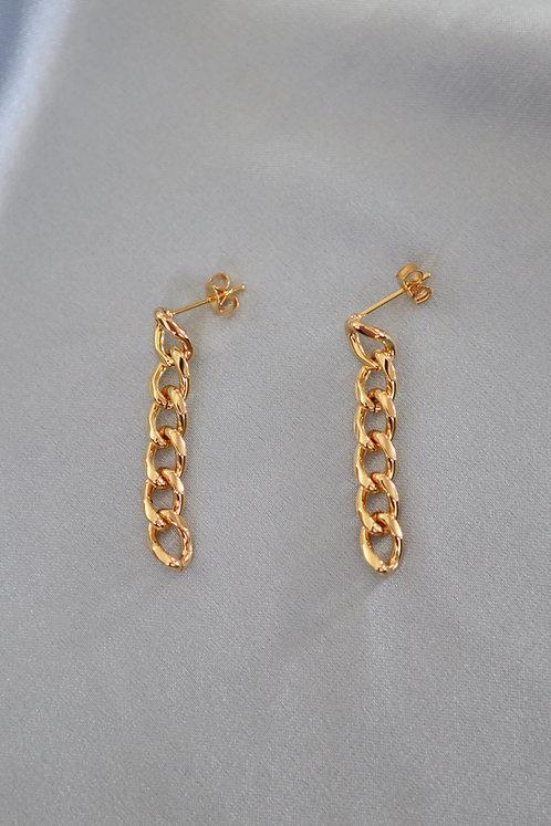 """Chain Rule"" Curb Link Earrings"