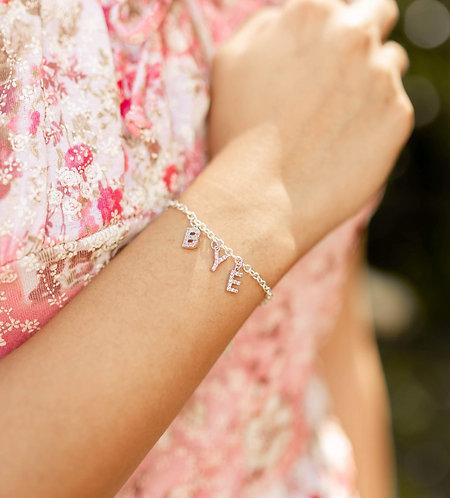 """""""Let's Get Personal"""" Custom Spaced Name Crystal Bracelet"""