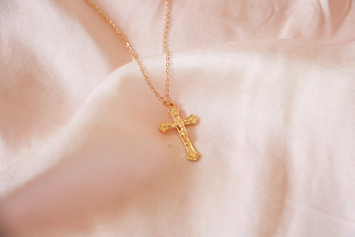 """Forgiven"" Cross Charm Necklace"