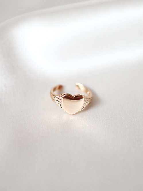 """""""Flawless"""" Heart Ring"""
