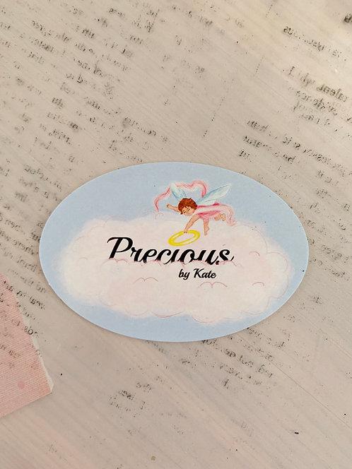 Sticker: Precious by Kate Logo