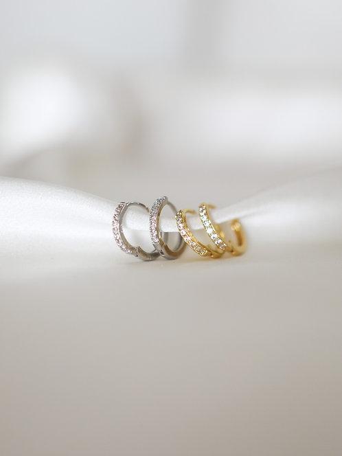"""Eternity"" Crystal Mini Hoops"