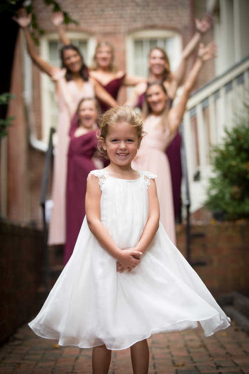 flower girl & bridesmaids