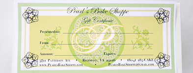 Pearl's Gift Certificate