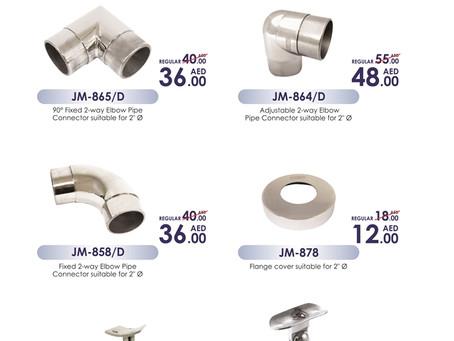 Grade 304 Hand railing Accessories Price Drop