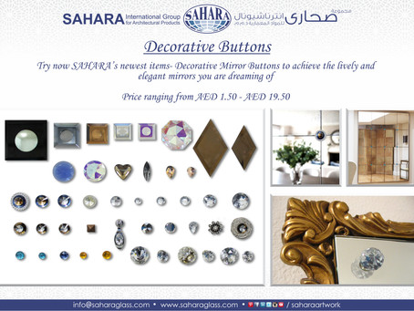 Decorative Mirror Buttons