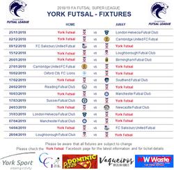 York Futsal Fixtures