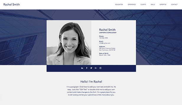 Portfolio & CV Website Templates | Wix   2