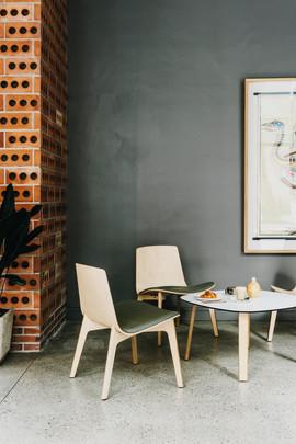 Sessel Lottus-Wood-Lounge von Enea