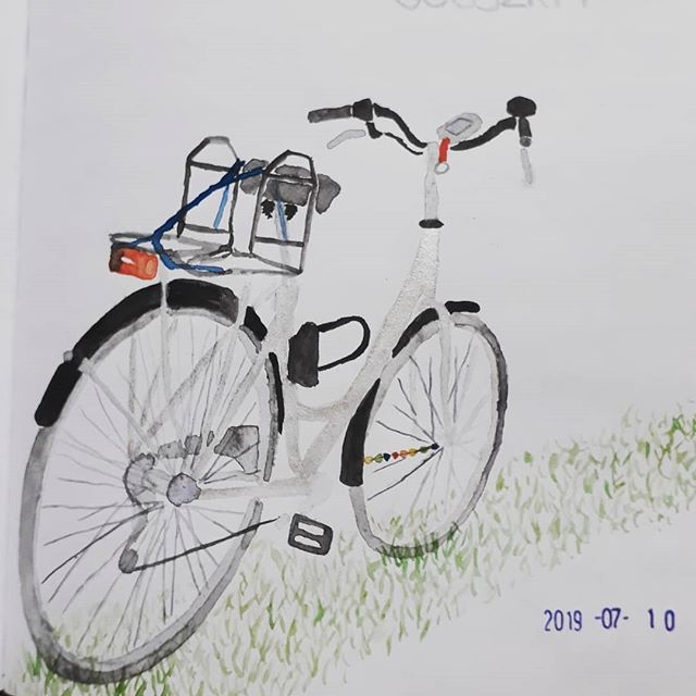 My bike #watercolor.jpg