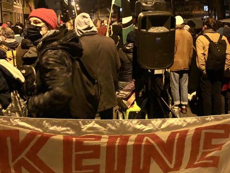 28. November 2020 Mehr als 3000 Menschen! sagen nein zur Gesinnungsjustiz des Basler Gerichtes