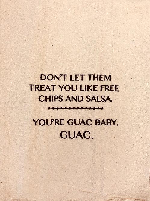 """Sassy Towel """"guac baby"""""""