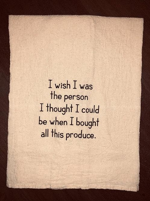 """Sassy Towel """"produce"""""""