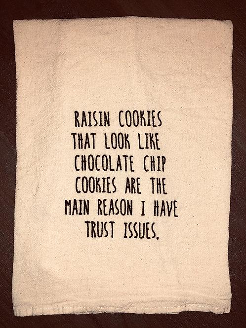 "Sassy Towel ""raisin cookies"""