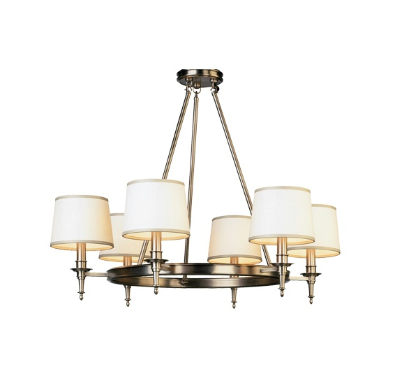 Winston 6 light chandelier D2149
