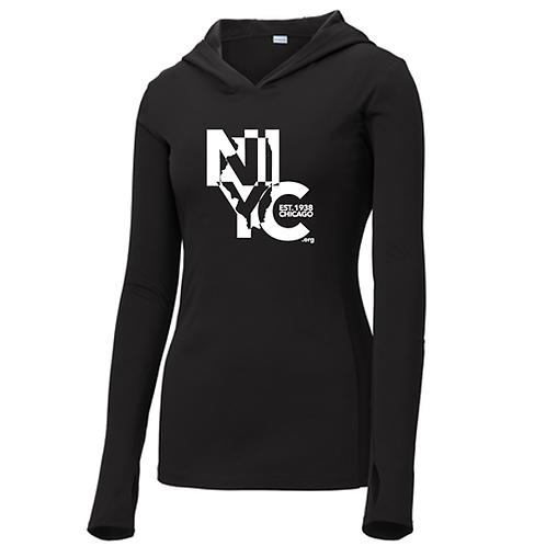 Ladies Lightweight Hooded Pullover
