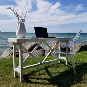 Double X desk/accent table